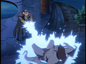 Disney Gargoyles - Avalon part 3 - archmage zaps goliath again