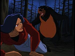 Disney Gargoyles - Heritage - bear attack