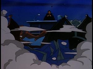 Disney Gargoyles - Kingdom - brooklyn and broadway crash xanatos's office roof