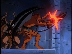 Disney Gargoyles - Kingdom - claw betrays fang