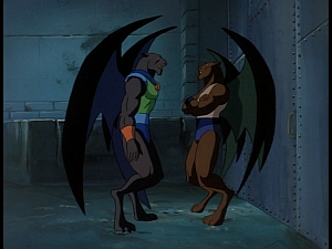 Disney Gargoyles - Kingdom - fang confronts talon