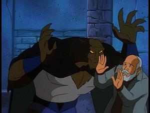 Disney Gargoyles - Kingdom - fang threatens al