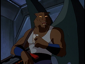 Disney Gargoyles - Kingdom - fang with gun and key
