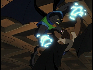 Disney Gargoyles - Kingdom - talon and fang fight