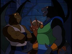 Disney Gargoyles - Kingdom - talon talks to fang