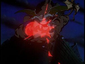 Disney Gargoyles - Kingdom - tower explodes
