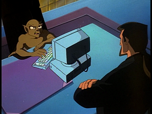 Disney Gargoyles - Kingdom - xanatos and lex over computer