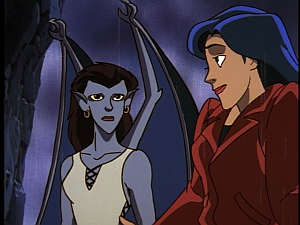 Disney Gargoyles - Shadows of the Past - angela and elisa shrug