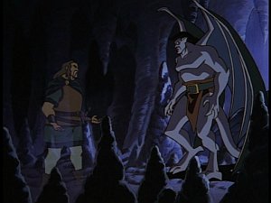 Disney Gargoyles - Shadows of the Past - captain ghost and goliath