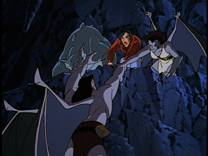 Disney Gargoyles - Shadows of the Past - elisa bronx angela save goliath