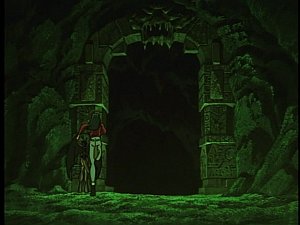 Disney Gargoyles - Shadows of the Past - gates to the cave