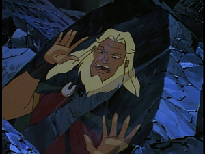 Disney Gargoyles - Shadows of the Past - ghost hakon stuck in a rock