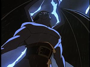 Disney Gargoyles - Shadows of the Past - goliath freaks out lightning