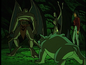 Disney Gargoyles - Shadows of the Past - goliath in cave with ax