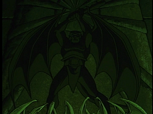 Disney Gargoyles - Shadows of the Past - stone image of goliath