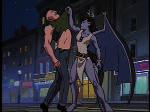 Disney Gargoyles - MIA - angela with thug