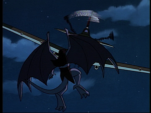Disney Gargoyles - MIA - goliath vs plane