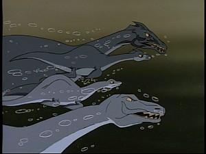 Disney Gargoyles - Monsters - baby loch ness monsters