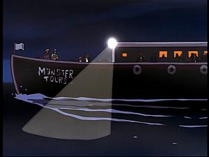 Disney Gargoyles - Monsters - tour boat