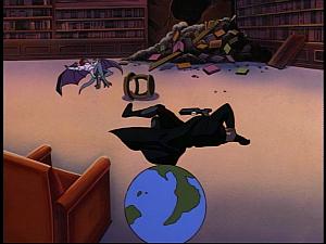 Disney Gargoyles - Sanctuary - demona and macbeth knocked out