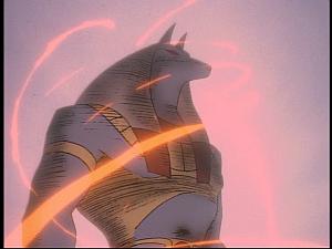 Disney Gargoyles - Grief - anubis fire