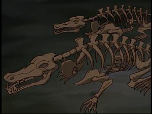 Disney Gargoyles - Grief - croc skeletons