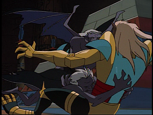 Disney Gargoyles - Grief - gargoyles tackle jackal