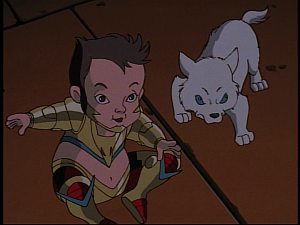 Disney Gargoyles - Grief - hyena and wolf young