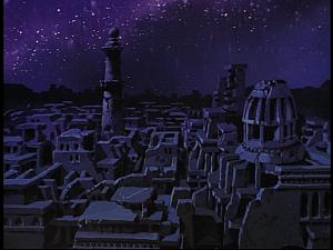 Disney Gargoyles - Grief - ruined city