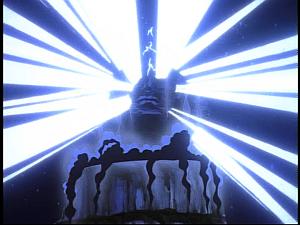 Disney Gargoyles - Grief - spinx glows