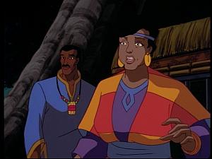 Disney Gargoyles - Mark of the Panther - diane sees elisa