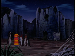 Disney Gargoyles - Mark of the Panther - spiderweb city