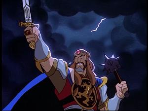Disney Gargoyles - Pendragon - arthur and sword