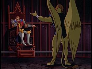 Disney Gargoyles - Pendragon - arthur on throne