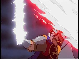 Disney Gargoyles - Pendragon - arthur pulls sword out