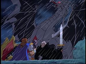 Disney Gargoyles - Pendragon - dragon awakes