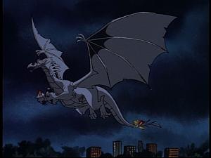 Disney Gargoyles - Pendragon - dragon flies