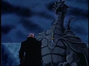 Disney Gargoyles - Pendragon - macbeth sees dragon