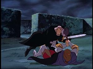 Disney Gargoyles - Pendragon - macbeth vs arthur