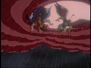 Disney Gargoyles - Pendragon - sky opens griff arthur