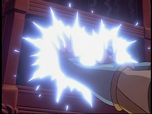 Disney Gargoyles - Pendragon - stone of destiny glows