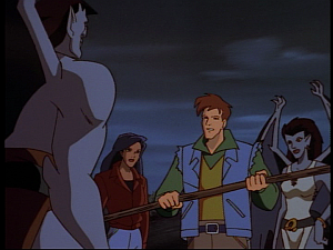 Disney Gargoyles - The Hound of Ulster - rory with staff