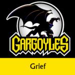Disney Gargoyles logo with Goliath grief