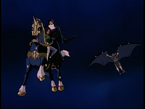 Disney Gargoyles - Eye of the Storm - flying sleipnir