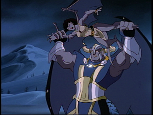 Disney Gargoyles - Eye of the Storm - goliath throws angela