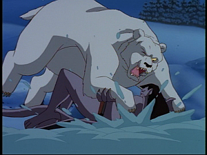Disney Gargoyles - Eye of the Storm - polar bear odin and goliath