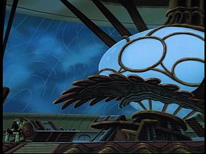 Disney Gargoyles - Sentinel - alien ship control area