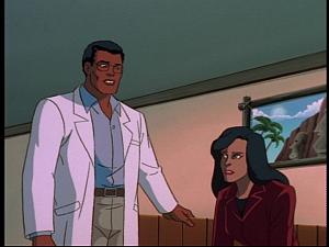 Disney Gargoyles - Sentinel - doctor talks to elisa