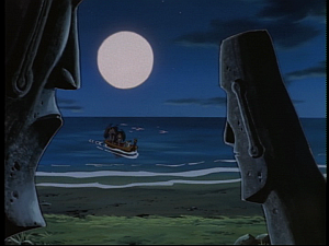 Disney Gargoyles - Sentinel - easter island heads