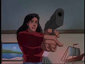 Disney Gargoyles - Sentinel - elisa aims gun